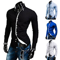 New Men's Luxury Casual Slim Fit Shirt Stylish Long Sleeve Dress Shirts T Gift