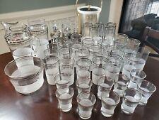 New ListingMidcentury Modern bar set - pitchers, highballs, shotglasses, ice buckets
