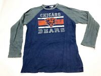 Chicago Bears NFL Long Sleeve T-Shirt Men's Size Large Blue a1