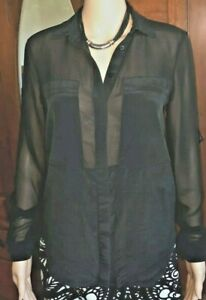 Forever New black sheer top size 8 FREE post