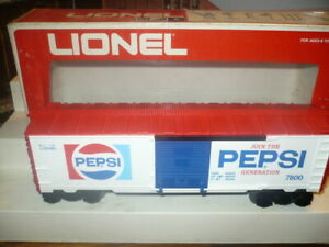 LIONEL PEPSI RED TOP BOX CAR 6-7800