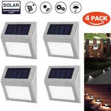 1-4X 3LED Solar Stair Light Outdoor Garden Courtyard Pathway Wall Street Lamp