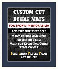 Ny Yankee Matting Navy & White Pure White Core Pre Cut Mats Conservation Grade