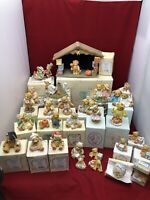 Cherished Teddies lot of 29 Most in Original Box See details
