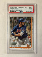 PETE ALONSO 2019 Topps Complete NO SOCK SHOWING SP RC! PSA MINT 9! #475! INVEST