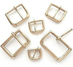 """SOLID CAST BRASS ROLLER BUCKLE 6 SIZES 2"""" - 3/4"""" INCH - 50mm - 20mm"""