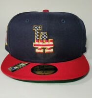 New Era Los Angeles Dodgers Hat 4th of July Edition Stars Stripes 59FIFTY 7 3/8