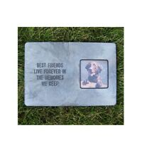 Memory Stone Photo Frame For Pets Best Friends Live Forever
