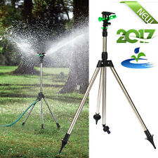 Tripod Impulse Lawn Sprinkler Pulsating Telescopic Watering Grass Yard & Garden