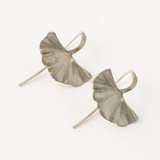 Michael Michaud - Ginkgo Leaf Earrings - Silver Seasons Jewelry, Cast Bronze