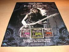 KIRK HAMMETT - METALLICA !!!!!!!!!1!!FRENCH PRESS ADVERT