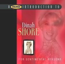 DINAH SHORE FOR SENTIMENTAL REASONS CD
