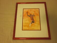 Circa 1992 Derrassi Michael Jordan Chicago Bulls Original Framed Artwork