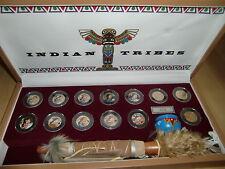 Sacagawea Dollar Indianer Münzsammlung Lederkasette Indian Tribes Friedenspfeife