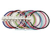 10 pcs Mixed Leather Charm Bracelets Fit European Beads 20cm P11