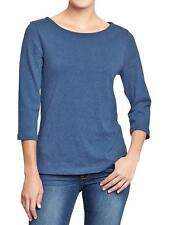 NWT OLD NAVY WOMEN'S NAVY BLUE BOATNECK JERSEY 100% COTTON TOP, SWEATER, L SIZE