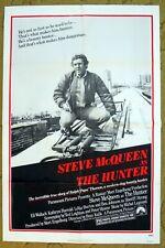 STEVE MCQUEEN is THE HUNTER original 27x41 poster & 5 bonus movie stills