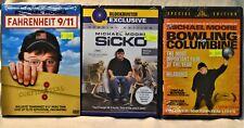 DVD Lot X3 Michael Moore Sicko Bowling for Columbine Fahrenheit 9/11 Politics