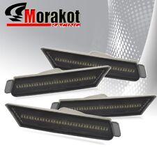 Camaro 2010-2012 Amber LED Front+Rear Bumper Side Marker Light Smoke/Chrome Lens