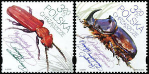 2018 Poland, insects, beetles, bugs, 2 stamps, MNH