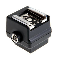 New Flash Hot Shoe PC Sync-Socket Adapter for Sony SLR DSLR Camera~