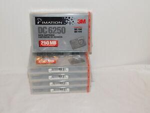 5 NEW Cartridges 3M DC6250 Data Cartridge 250 MB Sealed New