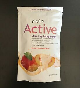 Plexus ACTIVE Clean Lasting Energy Peach Mango*15 Packets*1/22 🚐Free Shipping