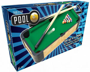 Table Top Pool Wooden Kids  Indoor Game Fun Gift - 39 x 2.8 cm
