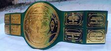 Big Green Replica Championship Belt, 4mm Zinc Plates, 24k Gold. (Adult Size) .
