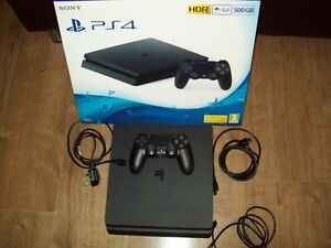 Sony Playstation 4 __ JET BLACK 500 GB __ PS4 Console