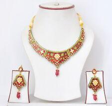 Indian Bollywood Style Rose Fashion Bridal Jewelry Gold Necklace Set