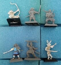 6 Assorted Crane Clan Miniatures — Clan War L5R Legend of the Five Rings samurai