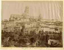Italie, Sienne, Vue prise du S. Dominique   Vintage albumen print. Italy. Siena
