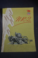 1952 Model NR2 Russian Tractor Brochure English/German/Russian/French