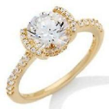 JEAN DOUSSET ABSOLUTE VERMEIL PAVE SEMI BEZEL RING SIZE 8 HSN SOLD OUT