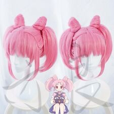 Japan Anime Sailor Moon Chibi Usa Full Wig Cosplay Party Lolita Pink Hair Wigs