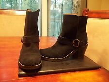 Red Camel Ocala Black Suede Leather Fashion Ankle Cowboy Boots Size 6 M