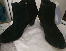 Oasis Black Suede Ankle Boots 41/8