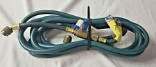 "TWO Yellow Jacket 11272 1/4"" Heavy Duty Charging Hose w/ Valve - BLUE"