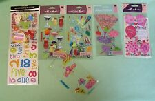 Scrapbooking PARTY BIRTHDAY sticker Lot   Drinks Cocktails Words   FUN lot!
