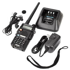 Baofeng BF-UV-5R VHF/UHF Dual Band FM Ham Two Way Radio Long Range Walkie-Talkie