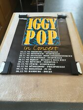 Iggy Pop - Original Concert Poster From Germany 1993