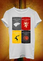 Game of Thrones Houses Stark Lannister Men Women Unisex T Shirt Tank Top Vest 60