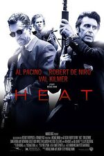 "HEAT Silk Fabric Movie Poster 15.7""x24"" Robert De Niro Al Pacino Val Kilmer 1995"