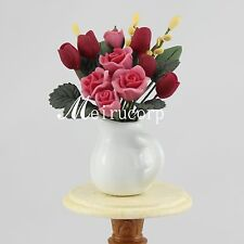 Fine Miniature Beautiful Red flowers for 1/12 Scale Dollhouse Furniture Lovely