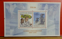 2016 SWEDEN LUND UNIVERSITY MINI SHEET MINT STAMPS