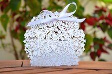 Cajitas blancas desmontadas boda comunión invitadas fiestas regalos 30u.