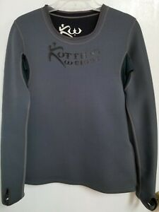 Kutting Weight Gray & Black Neoprene Weight Loss Sauna Long Sleeve Top Sz M Zip