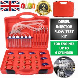 6 Cylinder Diesel Injector Flow Meter Adaptor Set Common Rail Leak Off Tester UK