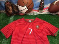 Ronaldo youth jersey fpf Shirt red M Medium seven 7 c7